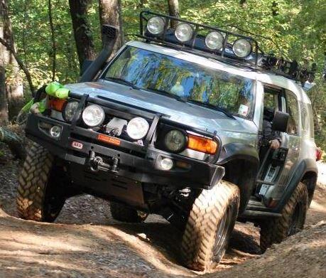 ARB Black Toyota FJ Cruiser Deluxe Bull Bar Winch Mount Bumper 2007-2014-1342