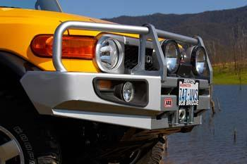 ARB Black Toyota FJ Cruiser Deluxe Bull Bar Winch Mount Bumper 2007-2014-251
