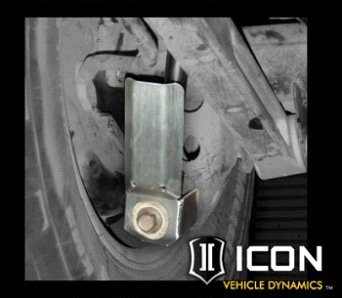 ICON 2007-Current FJ Cruiser / 03-Current 4Runner / Stainless Steel Lower Shock Shin Guard-0