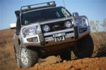 ARB Black Toyota Land Cruiser 200 series Deluxe Bull Bar Winch Mount Bumper 2007-2011-0