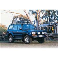 ARB Black 80 Series Toyota Land Cruiser Bull Bar Winch Mount Bumper-0