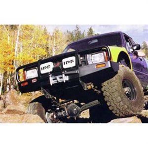 ARB Black Toyota Pickup Deluxe Bull Bar Winch Mount Bumper 1986-1995-0