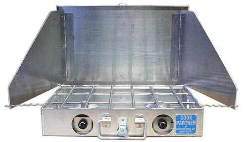 Partner Steel 2 Burner Stove With Windscreen-0