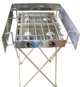 Partner Steel Stove stand with optional windscreen-0